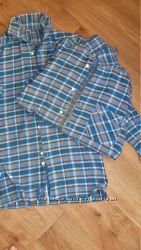 Рубашки сорочки байковые без синтетики 2 штуки в хорошем состоянии бу