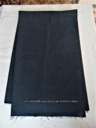 Ткань брючная костюмная с лавсаном серо-синяя отрез