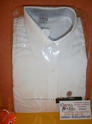 Рубашка белая для мальчика школьная с длинным рукавом Новая Турция