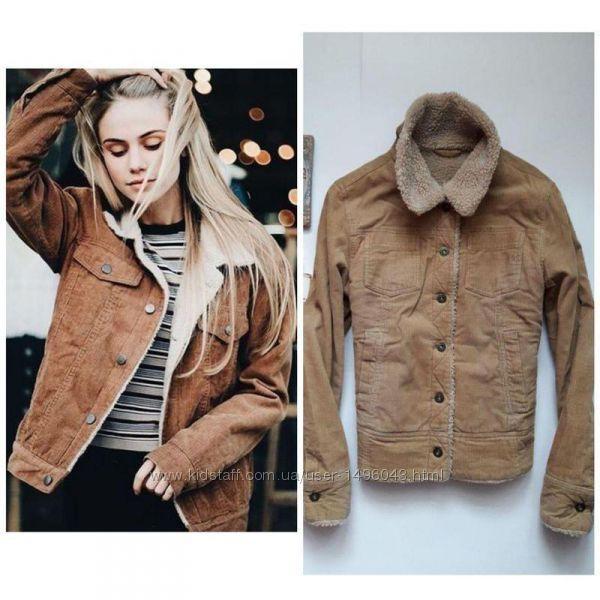 Крута курточка вільветова утеплена bay  p. L