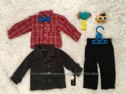Теплый комплект Only Kids - пальто, рубашка и брюки 12-18 месяцев
