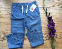 Летние джинсовые брючки девочке на 7-8 лет Голландия