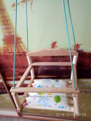 Качеля детская деревянная