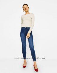 Синие джинсы bershka denim skinny новые супер цена