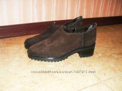 Ботинки, туфли замшевые на меху