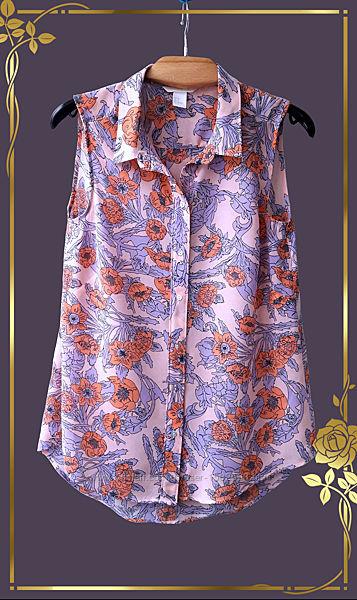 Шифоновая блузка без рукавов H&M/Indonesia