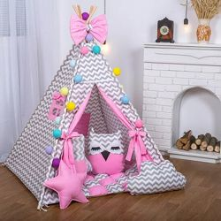 Шикарный вигвам с окошком дом домик палатка Мечта