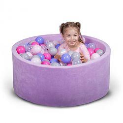 Бассейн для дома сухой с шариками фиолетовый