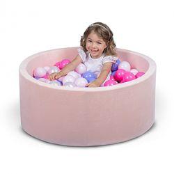 Бассейн для дома сухой с шариками нежно розовый