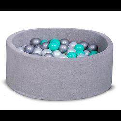 Бассейн с шариками для дома серый