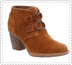 Clarks замшевые ботинки оригинал р.37,39.5