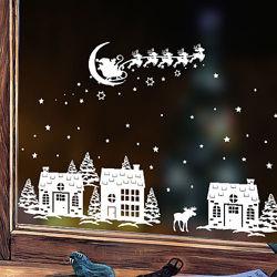 Новогодние наклейки на стены, окна, в детскую, для офиса