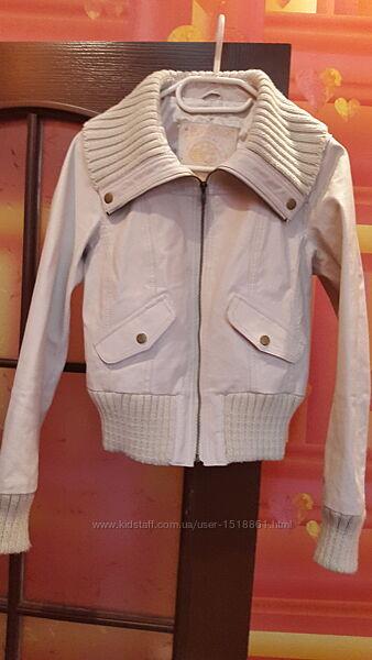 New look оригинал кожаная куртка натуральная кожа размер 40