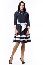 Темно-синее платье р. 44