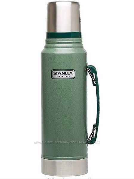 Термос Stanley Classic Vacuum Bottle Hammertone Green 1 литр