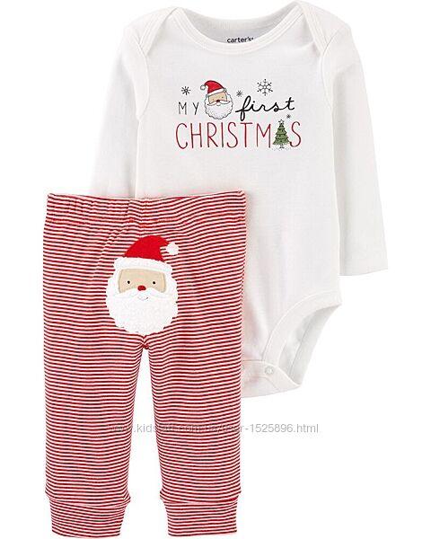 Пижама новогодняя СartersКартерс  бодик и штанишки