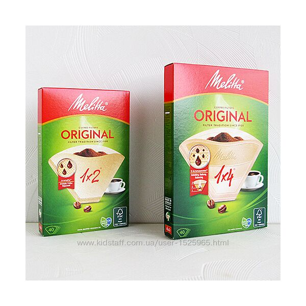 Melitta Original - бумажные фильтры Мелитта для кофеварки 1х2, 1х4, скидки