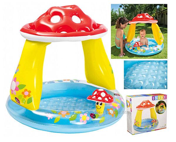 Детский надувной бассейн Intex Грибочек