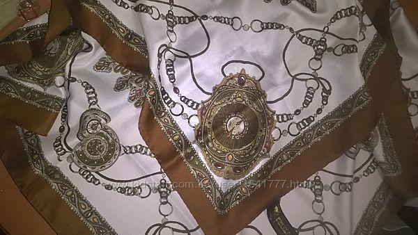 Da vinci contessa di roma большой шелковый платок