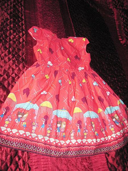 Платье нарядное красное  купонное