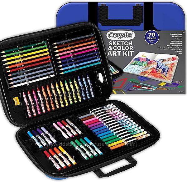 Набор Крайола в мягком чемоданчике Crayola Coloring and Sketching Art Set