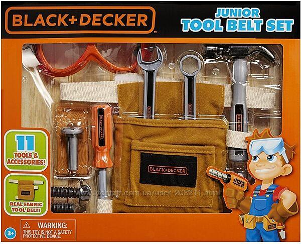Набор для юных строителей Black and Decker Jr. 11-Piece Tool Belt Set