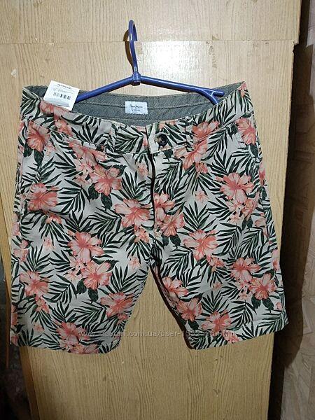 pepe jeans mcqueen floral shorts шорты бермуды w31 M S