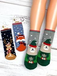 Махровые новогодние носочки на мальчиков и девочек