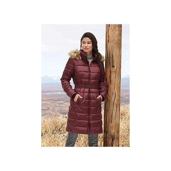 Женское теплое стеганое пальто для еврозимы бренда ESMARA.