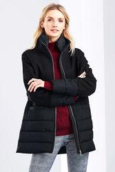 Модное демисезонное пальто-курка в комбинации с шерстью бренда TCM Tchibo.