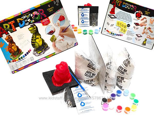 Набор для творчества Создай гипсовую фигурку и раскрась её красками