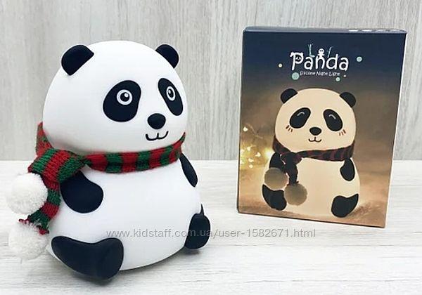 Детский силиконовый светильник ночник Панда LOSSO