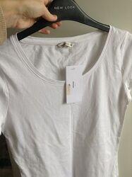 Базовая белая футболка zara house xs s