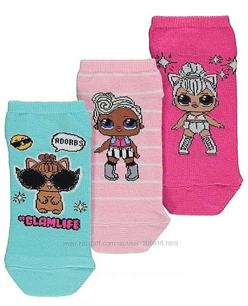 Класснючие носочки George с любимыми l. o. l. девочкам 35-37 размер