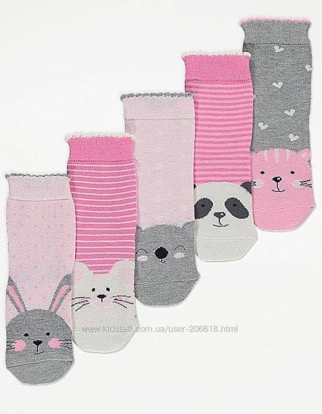 Суперские носочки George девочкам 27-30 и 31-36 размер
