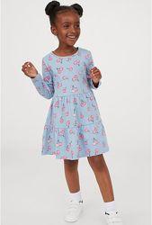 Супер платья H&M хлопок девочкам 8-10 лет