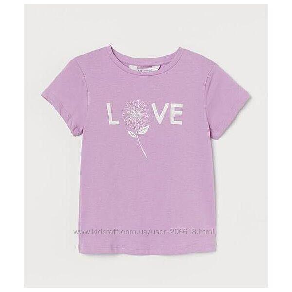 Новинки оригинальные футболки H&M трэндовый цвет