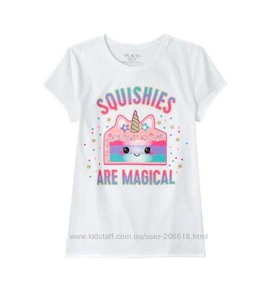Милые хлопковые футболочки Children Place яркий принт