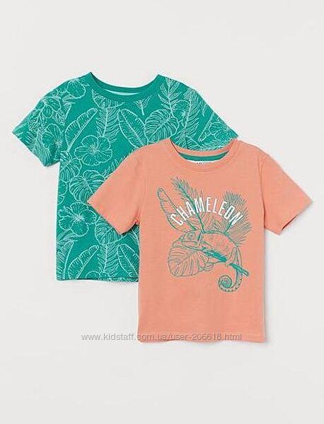 Классные футболочки H&M оригинальный принт мальчикам