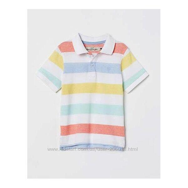 Стильные тенниски полло футболки H&M мальчикам