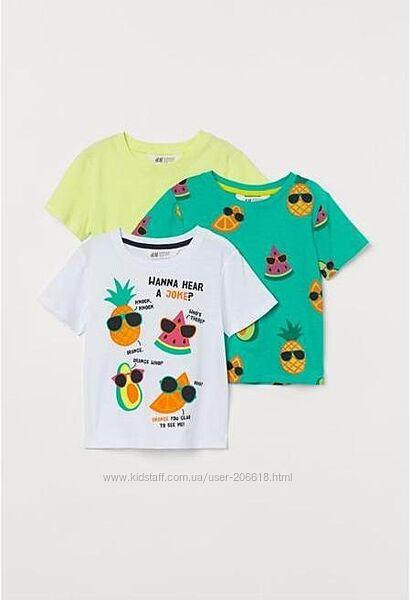 Яркие летние футболки мальчикам H&M