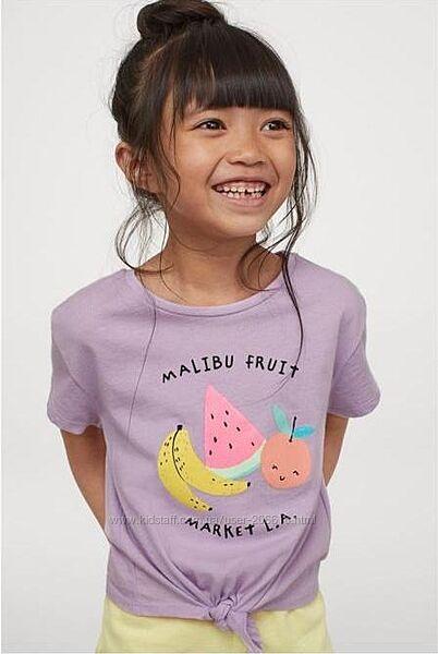 Классные топы H&M фруктовый принт девочкам