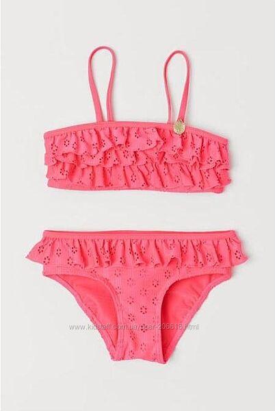 Яркие неоновые купальники H&M девочкам