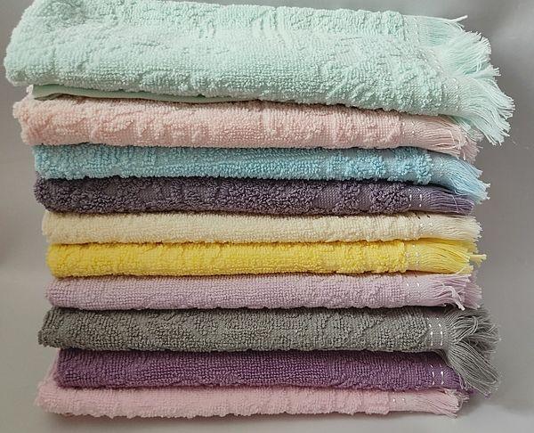 Махровые кухонные полотенца с бахромой