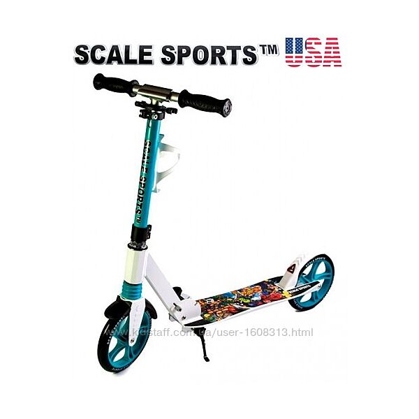 Самокат Scale Sports Elite ss-15 тиффани  Led фонарик