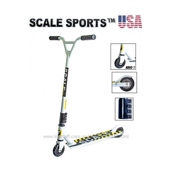 Самокат трюковый Scale Sports Tornado USA белый