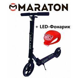 Самокат Maraton Fox Pro Черный  Led фонарик