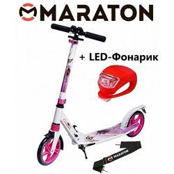 Самокат Maraton Pro рисунок  Led фонарик