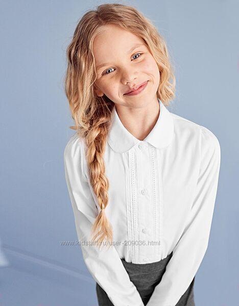 Красивые школьные блузки на рост 130-146 см