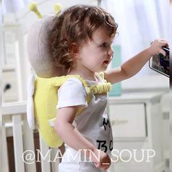 Детский шлем рюкзак-подушка для защиты головы противоударный шлем